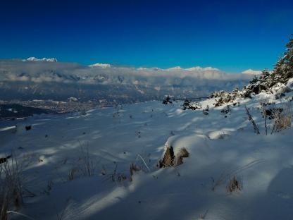 Blick auf Innsbruck vom Kofel