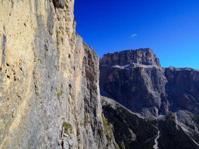Kletterer in der Micheluzzi